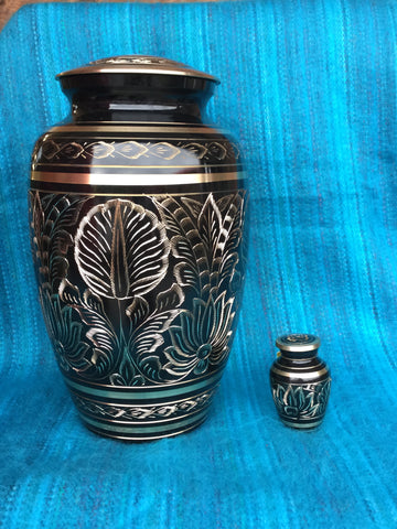"""Etched Leaf"" Urn"