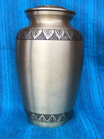"""Gold, Leaf Trim"" Urn"