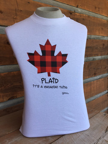 """Plaid. It's A Canadian Thing"" T-shirt"