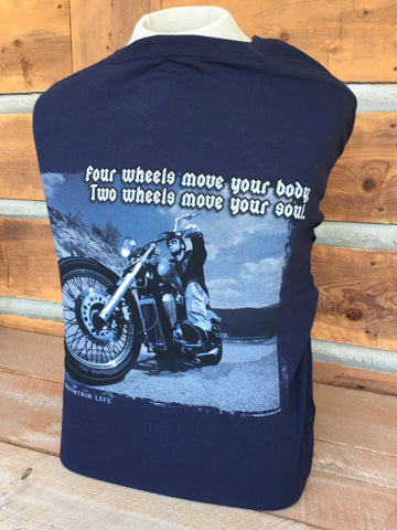 """Two Wheels Move Your Soul"" T-Shirt"