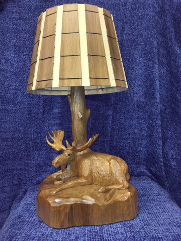 Sleeping Moose Lamp