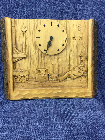 Clock With Sleeping Man