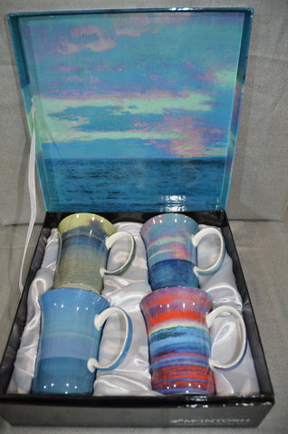 Group of Seven Set of Four Mugs 'Blue'
