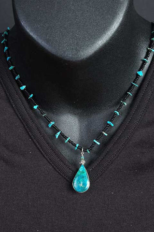 Turquoise and Seed Bead Necklace