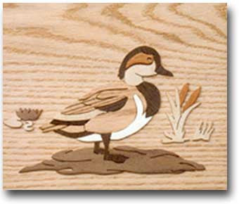 """Mandarin Duck"" Marquetry Kit"
