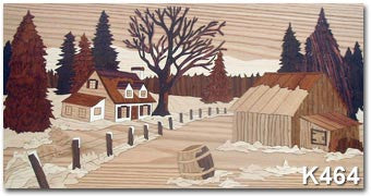 """Rustic Landscape"" Marquetry Art Kit"