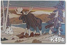 """American Moose"" Marquetry Art Kit"