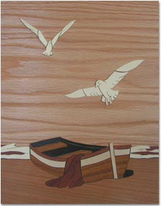 """The Rowboat'' Marquetry Art Kit"