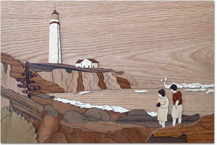"""Light House"" Wood Marquetry Kit"