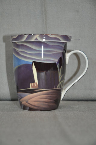 Lawren Harris 'Ice House' Tea Mug With Lid