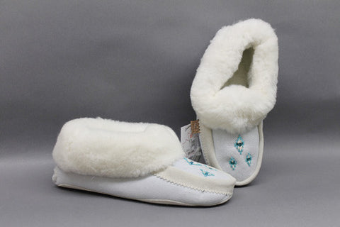 Ice Sheepskin, Beads with Padded Sole