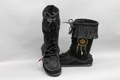 Black Suede Dream Catcher with Rubber Sole