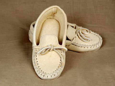 Elk Hide Moccasin with Double Padded Sole KK64X