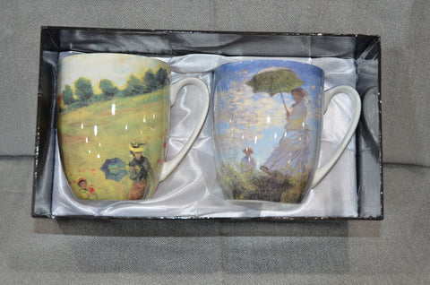 Claude Monet 'Scenes With Women' Set of Two Mugs