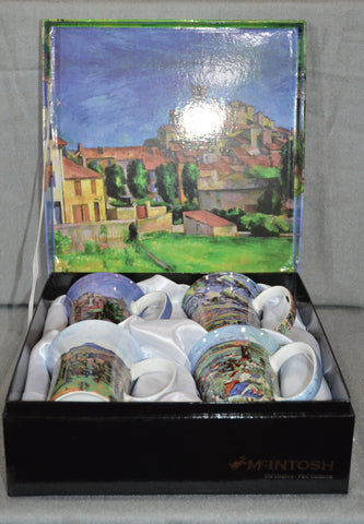 Paul Cezanne Set of Four Mugs 'Architecure'