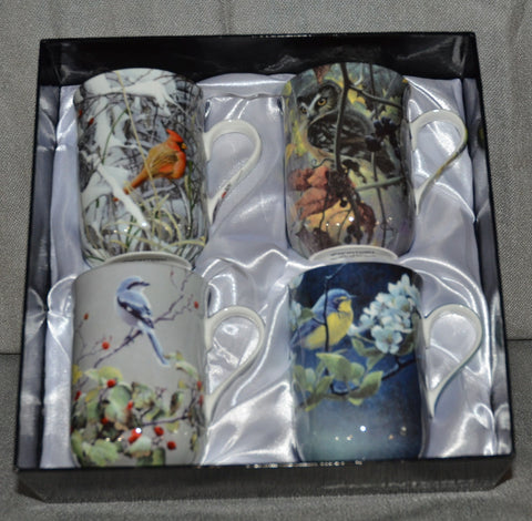 Robert Bateman 'Birds' Set of Four Mugs