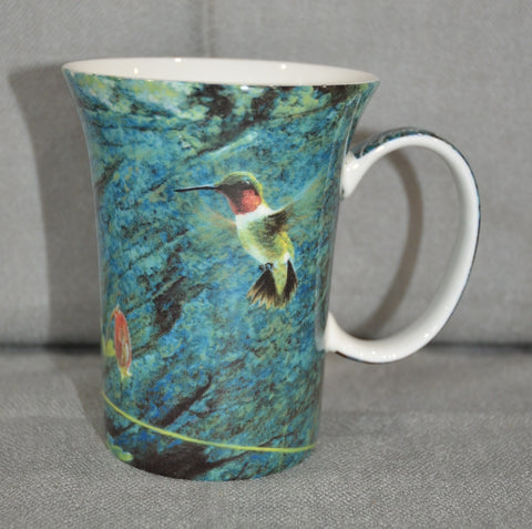 Robert Bateman 'Ruby Throat and Columbine' Crest Mug