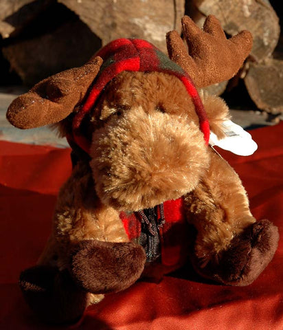 Stuffed Moose with Vest