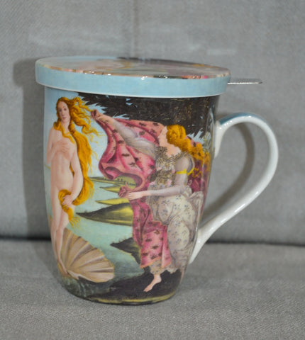 Sandro Botticelli 'Birth of Venus' Tea Mug and Lid