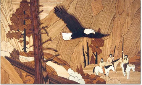"""Retreat of the Eagle"" Marquetry Wood Kit"