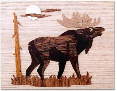 """Moose At Twilight"" Marquetry Kit"