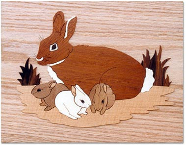 """Rabbits"" Marquetry Kit"