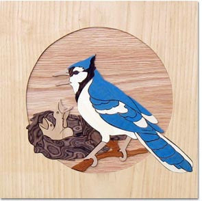 """Blue Jay"" Wood Marquetry Kit"