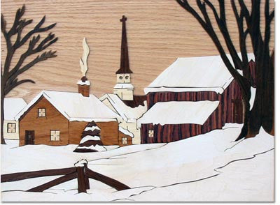 """Small Village"" Wood Marquetry Kit"
