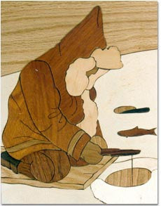 """Ice Fishing"" Marquetry Kit"