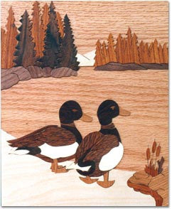 """Mallard Pair"" Wood Marquetry Kit"