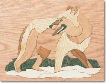 """Wolf"" Wood Marquetry Kit"