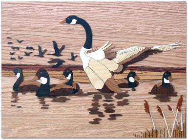"""Canada Geese"" Wood Marquetry Kit"
