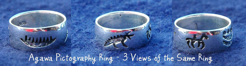 Agawa Pictograph Ring