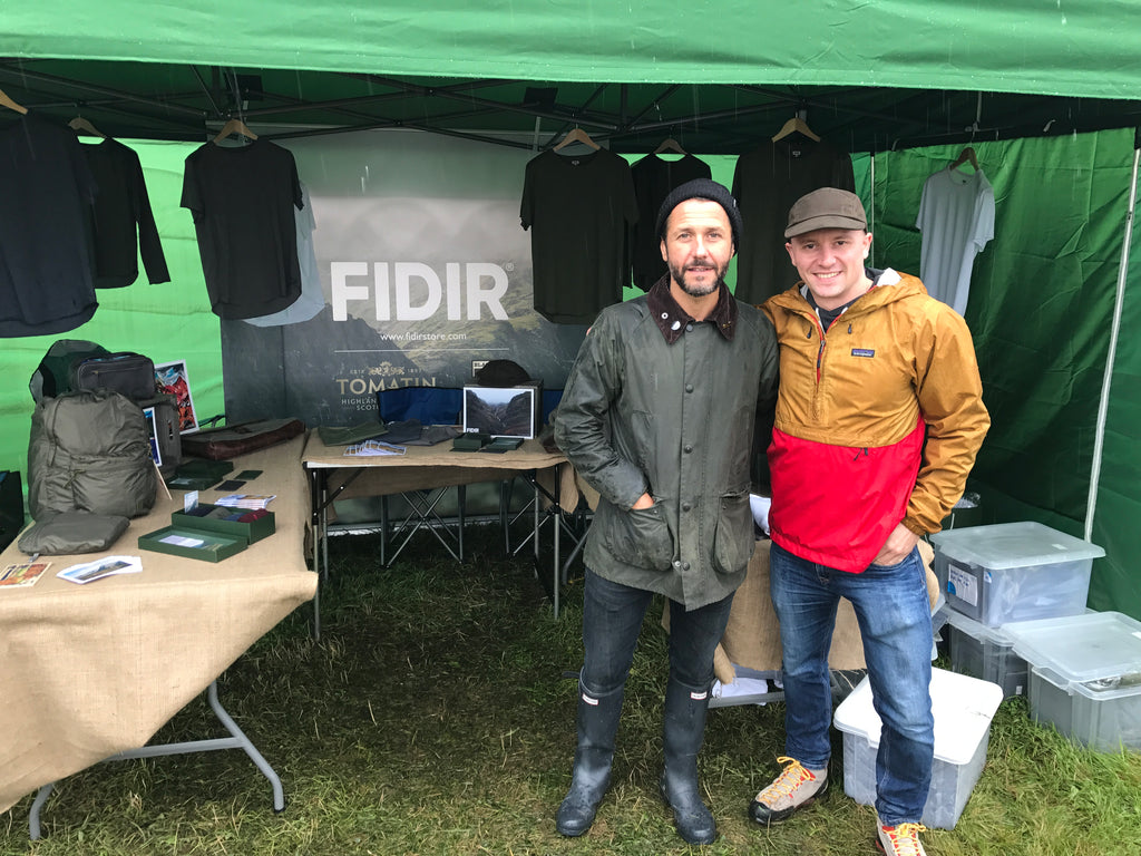 Grant Nicholas from Feeder visiting the Fidir stall