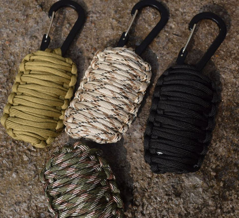 8 in 1 Survival Paracord Carabiner Grenade