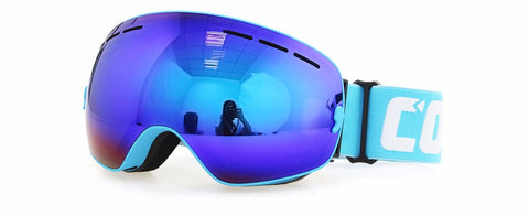 Double UV400 Anti-Fog Ski Goggles - gotothread