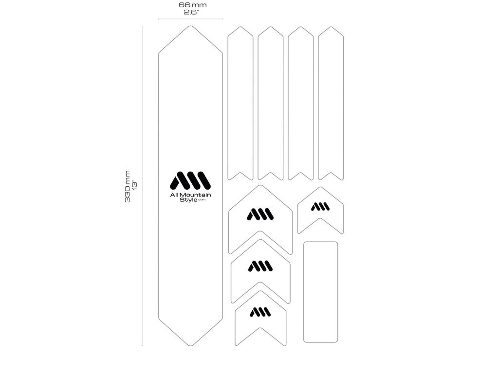 ALL MOUNTAIN STYLE HONEYCOMB FRAME GUARD (XL) ZEBRA