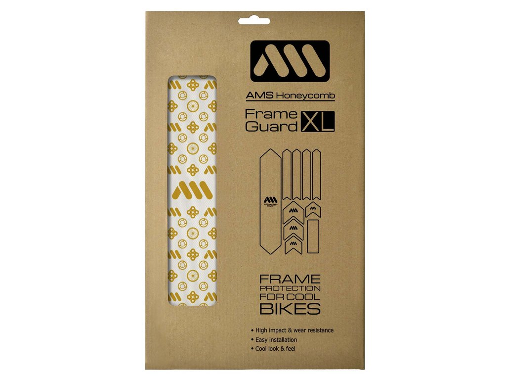 ALL MOUNTAIN STYLE HONEYCOMB FRAME GUARD (XL) COUTURE GOLD