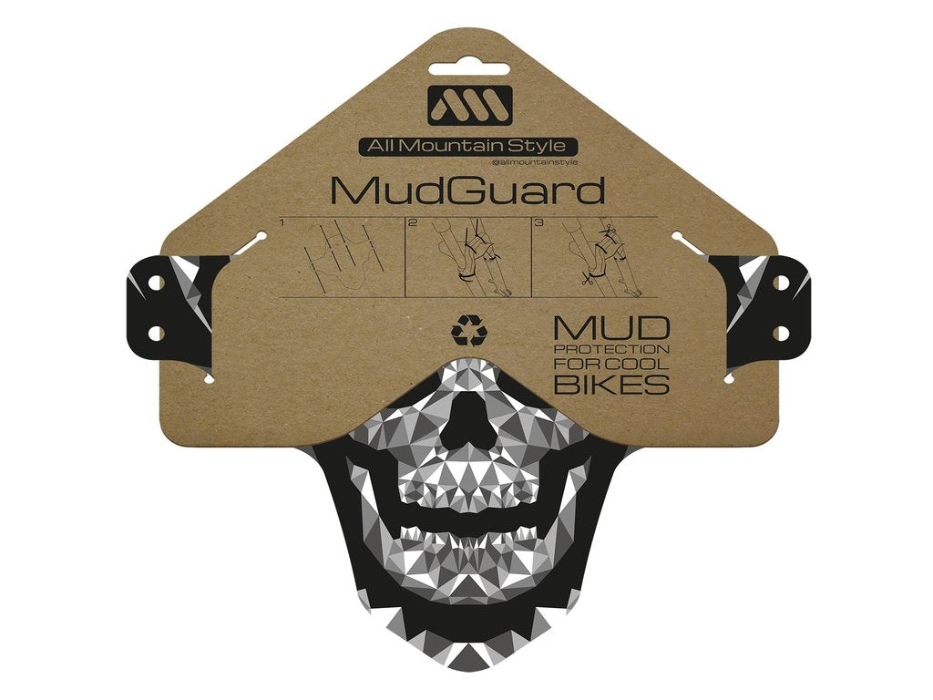 ALL MOUNTAIN STYLE MUD GUARD FRACTAL SKULL