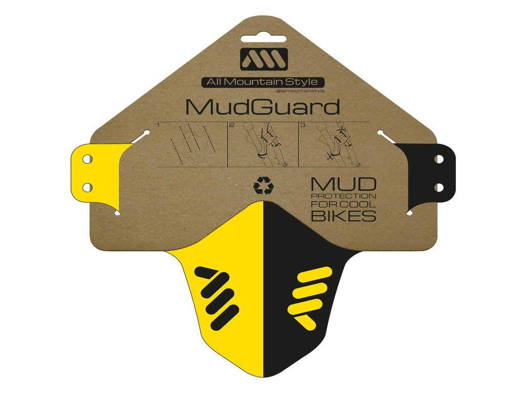 ALL MOUNTAIN STYLE MUD GUARD YELLOW