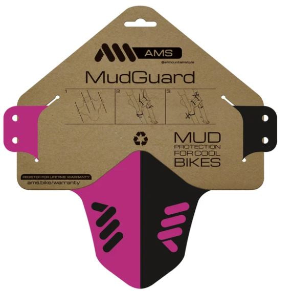 ALL MOUNTAIN STYLE MUD GUARD MAGENTA/BLACK