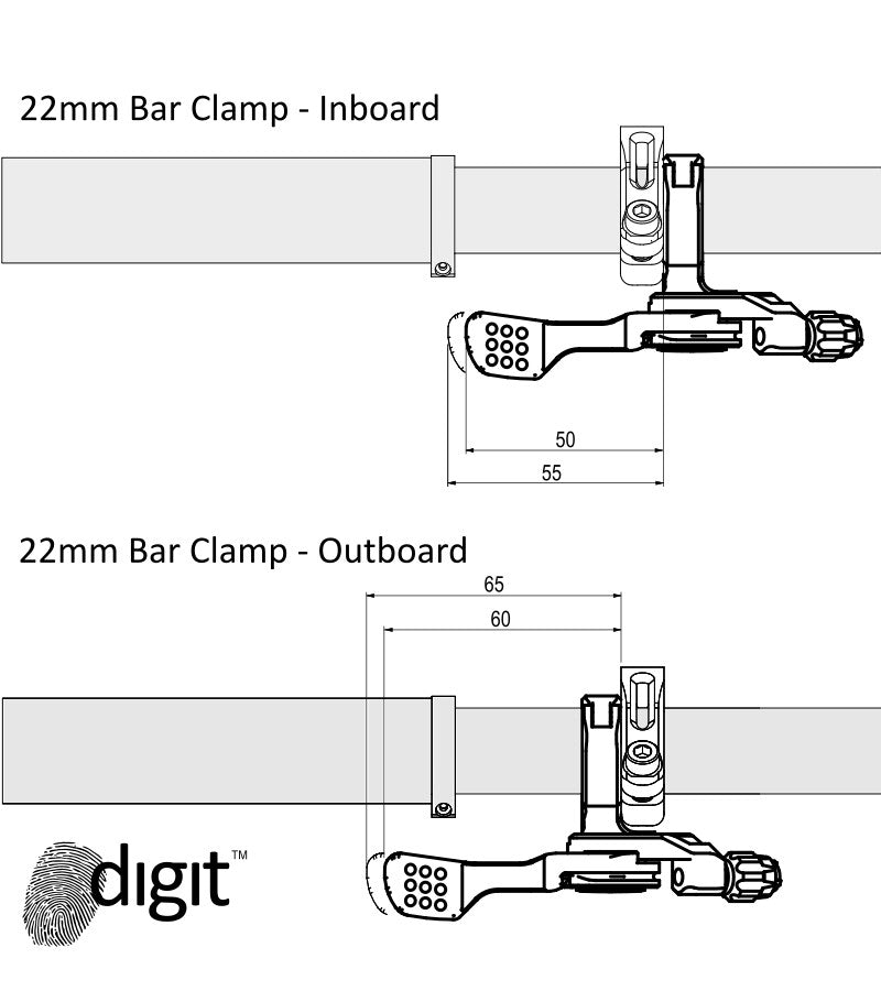 9POINT8 DIGIT REMOTE 22MM CLAMP