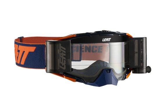LEATT GOGGLE VELOCITY 6.5 ROLL-OFF INK/ORANGE CLEAR 83%