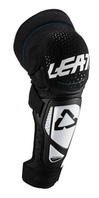 LEATT KNEE AND SHIN GUARD 3DF HYBRID EXT [WHITE/BLACK] JUNIOR