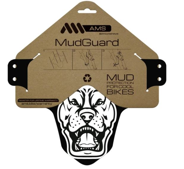 ALL MOUNTAIN STYLE MUD GUARD WHITE/PITBULL