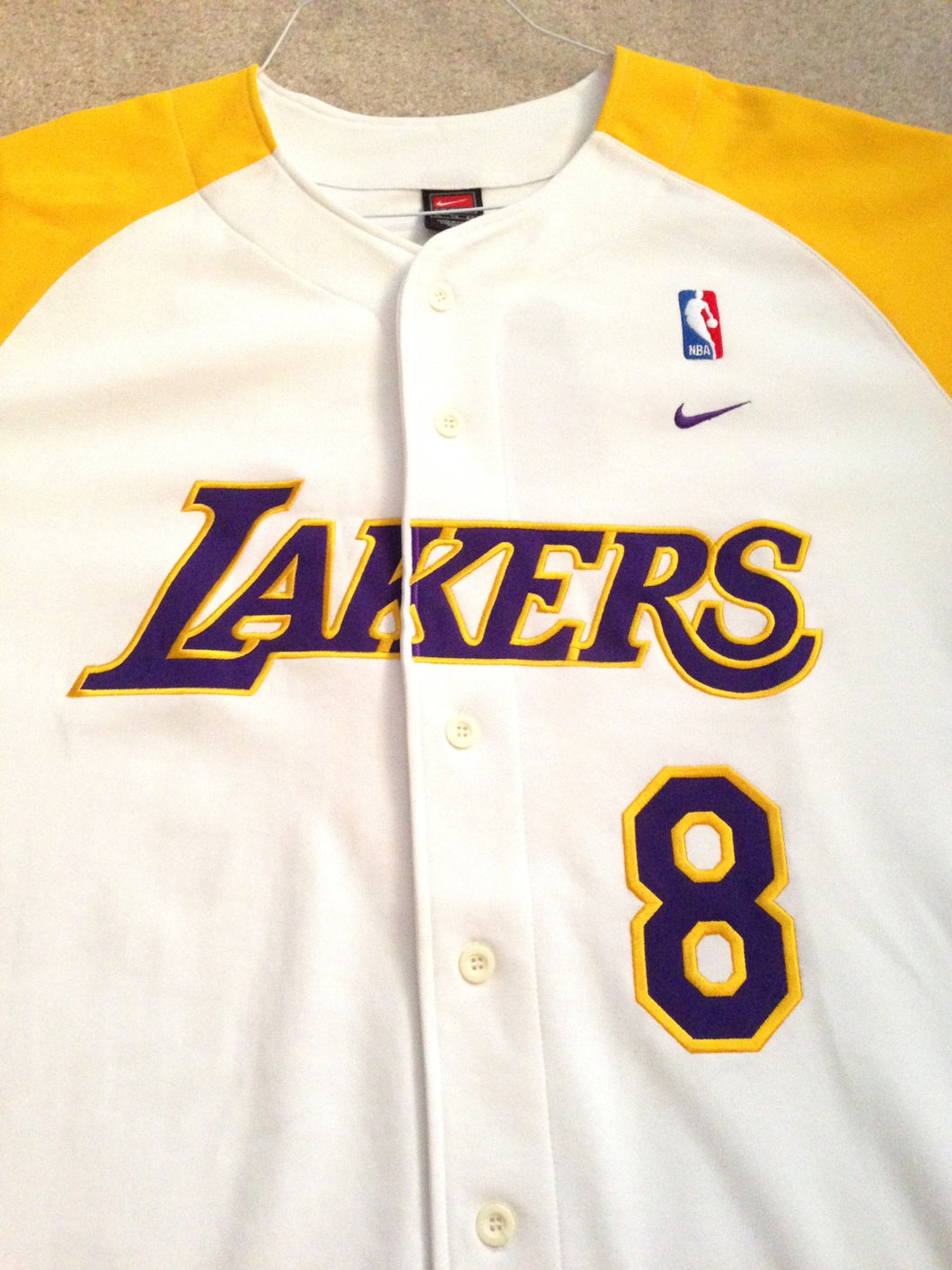 1e899241b9c0 la lakers white jersey Nike Los Angeles LA Lakers Kobe Bryant  8 Home ...