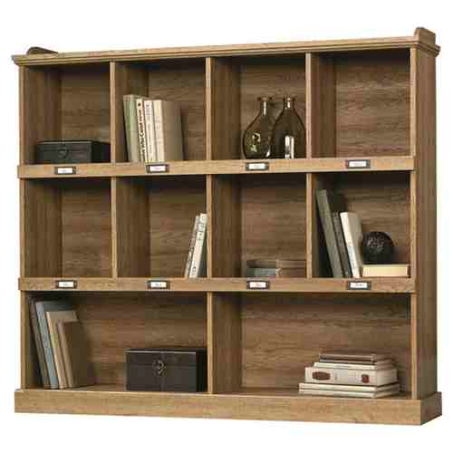 Scribed Oak Wood Finish 53-inch Wide 3-Shelf Bookcase Bookshelf - Made in USA -   - Magneta Brand