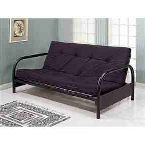 Contemporary Black Metal Futon Frame -   - Magneta Brand