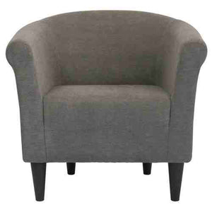 Graphite Grey Modern Classic Upholstered Accent Arm Chair Club Chair -   - Magneta Brand