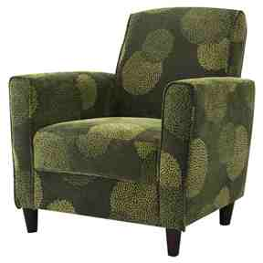 Contemporary Green Fabric Upholstered Flared Arm Accent Chair with Wood Legs -   - Magneta Brand